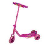 Rosa sparkesykkel for barn på 3 hjul.