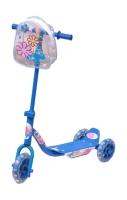 Blå sparkesykkel m/3 hjul og veske