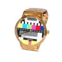 Quartz ur med prøvebilde bakgrunn