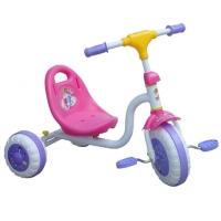 Rosa og lilla trehjulsykkel