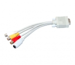 VGA til S-Video og 3RCA kabel